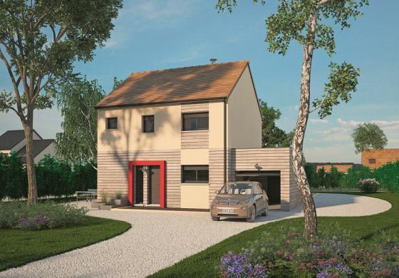 Maison+Terrain à vendre .(98 m²)(OFFRANVILLE) avec (MAISONS BALENCY)