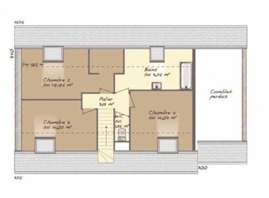 Maison+Terrain à vendre .(117 m²)(SURTAUVILLE) avec (MAISONS BALENCY)