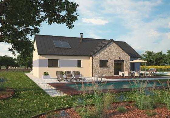 Maison+Terrain à vendre .(100 m²)(ACQUIGNY) avec (MAISONS BALENCY)
