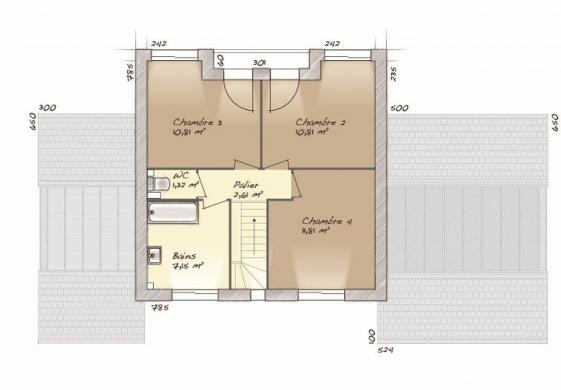 Maison+Terrain à vendre .(90 m²)(BOISSAY) avec (MAISONS BALENCY)