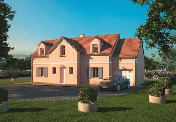 Maison+Terrain à vendre .(125 m²)(LA CROIX SAINT LEUFROY) avec (MAISONS BALENCY)