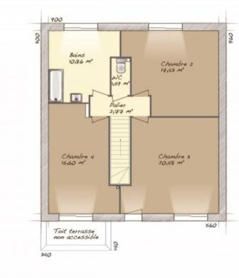 Maison+Terrain à vendre .(128 m²)(VRAIVILLE) avec (MAISONS BALENCY)