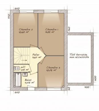 Maison+Terrain à vendre .(90 m²)(MENILLES) avec (MAISONS BALENCY)