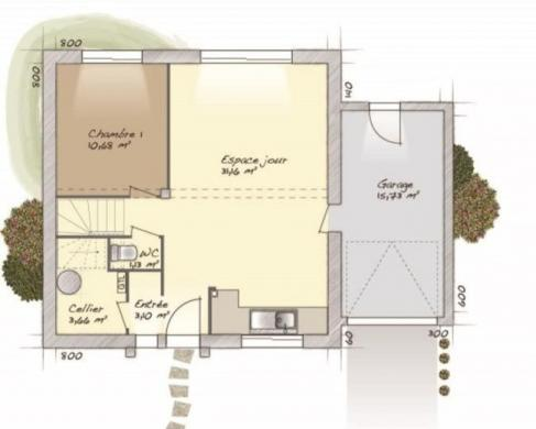 Maison+Terrain à vendre .(98 m²)(PONT DE L'ARCHE) avec (MAISONS BALENCY)