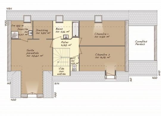 Maison+Terrain à vendre .(133 m²)(PREY) avec (MAISONS BALENCY)