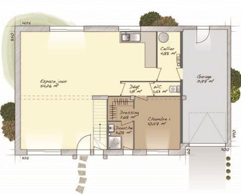 Maison+Terrain à vendre .(117 m²)(AULNAY SUR ITON) avec (MAISONS BALENCY)