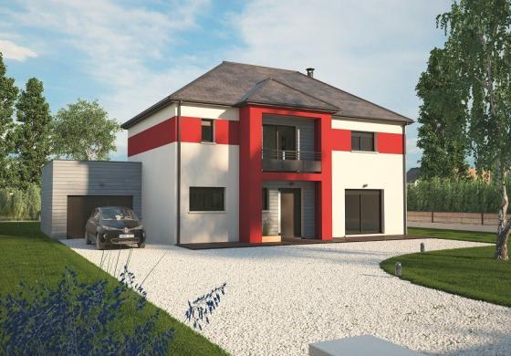 Maison+Terrain à vendre .(160 m²)(DAMVILLE) avec (MAISONS BALENCY)