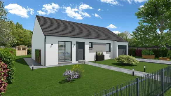 Maison+Terrain à vendre .(89 m²)(ESCHES) avec (MAISONS PHENIX)