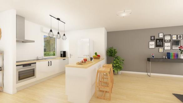 Maison+Terrain à vendre .(104 m²)(ACQUEVILLE) avec (Maisons Phénix Caen)