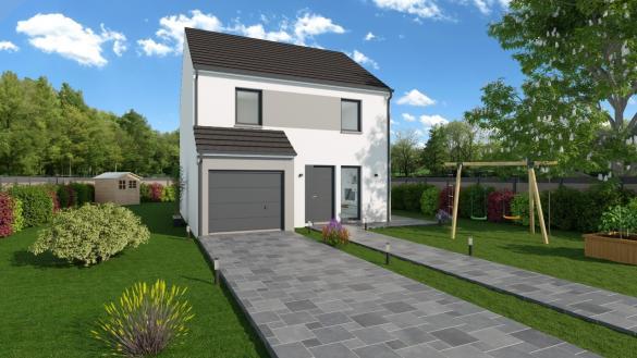 Maison+Terrain à vendre .(102 m²)(SAINTE SUZANNE SUR VIRE) avec (Maisons Phénix Caen)