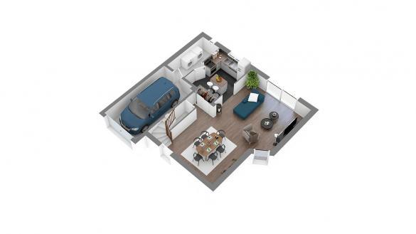 Maison+Terrain à vendre .(89 m²)(HABARCQ) avec (HABITAT CONCEPT BEAURAINS)