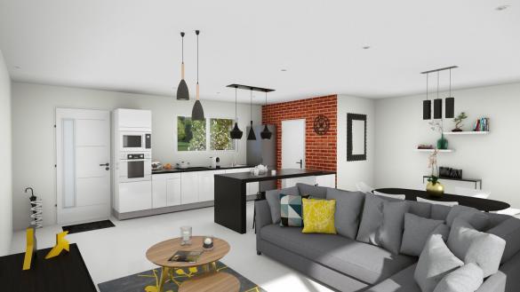 Maison+Terrain à vendre .(96 m²)(FABAS) avec (LCO CONCEPT)