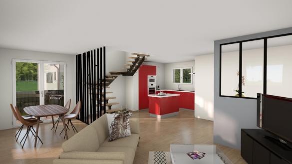 Maison+Terrain à vendre .(92 m²)(MONTECH) avec (LCO CONCEPT)