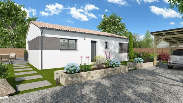 Maison+Terrain à vendre .(90 m²)(SAINT ANDRE DE CUBZAC) avec (LCO CONCEPT)