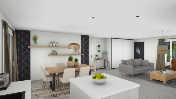 Maison+Terrain à vendre .(90 m²)(VILLAUDRIC) avec (LCO CONCEPT)