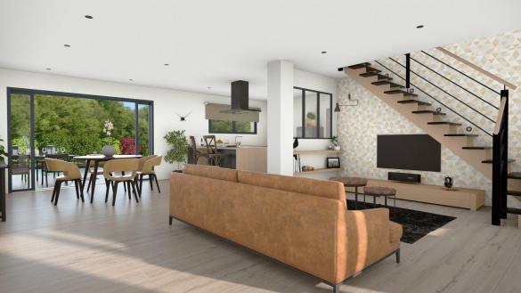 Maison+Terrain à vendre .(104 m²)(QUINT FONSEGRIVES) avec (LCO CONCEPT)