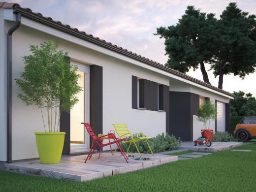 Maison+Terrain à vendre .(85 m²)(HIERS BROUAGE) avec (MAISONS M.C.A.)