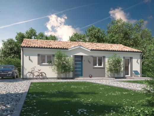 Maison+Terrain à vendre .(64 m²)(HIERS BROUAGE) avec (MAISONS M.C.A.)