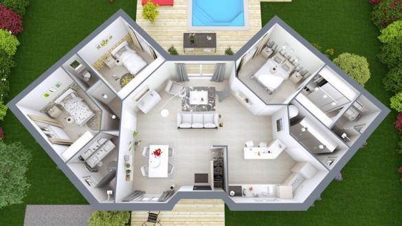 Maison+Terrain à vendre .(99 m²)(ROCHEFORT) avec (MAISONS M.C.A.)
