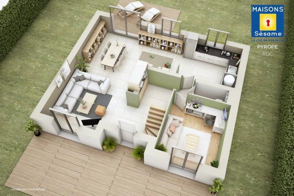 Maison+Terrain à vendre .(133 m²)(QUINCY SOUS SENART) avec (MAISONS SESAME)