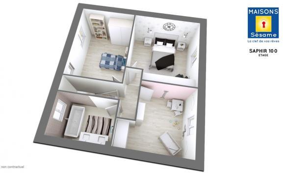 Maison+Terrain à vendre .(98 m²)(GRISY SUISNES) avec (MAISONS SESAME)