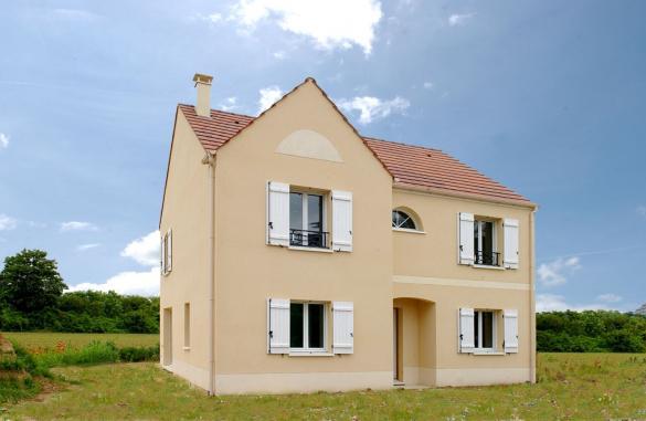 Terrain à vendre .(411 m²)(SURVILLIERS) avec (MAISONS SESAME)