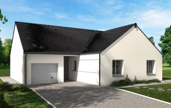 Maison+Terrain à vendre .(89 m²)(VERNOIL) avec (CARRENEUF AGENCE DE SAUMUR)