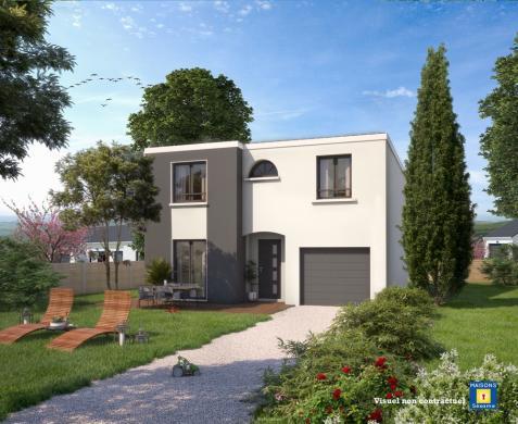 Maison+Terrain à vendre .(100 m²)(BRUYERES LE CHATEL) avec (MAISONS SESAME)