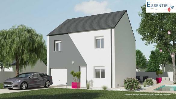 Maison+Terrain à vendre .(90 m²)(BRUYERES LE CHATEL) avec (MAISONS SESAME)
