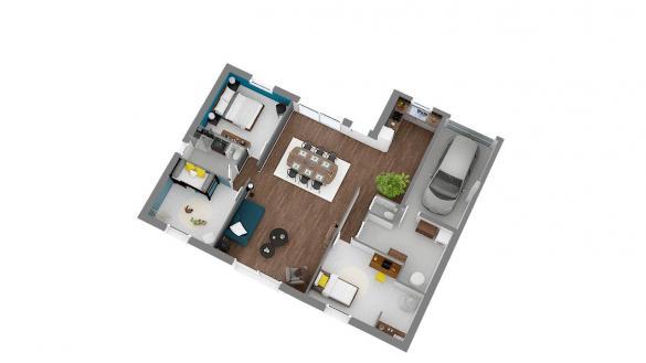Maison+Terrain à vendre .(110 m²)(BAINGHEN) avec (Maison Familiale Wizernes)