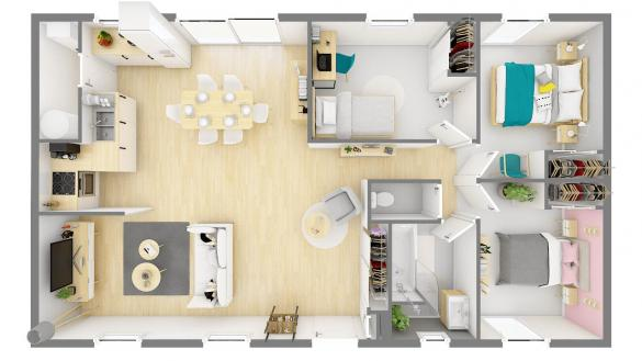 Maison+Terrain à vendre .(84 m²)(SAINT MARCELLIN) avec (Maisons Phenix St Marcel les Valence)