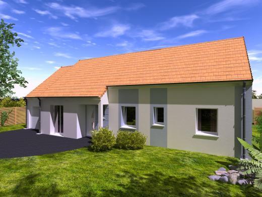 Maison+Terrain à vendre .(84 m²)(HOUVILLE LA BRANCHE) avec (Les Maisons Lelievre)