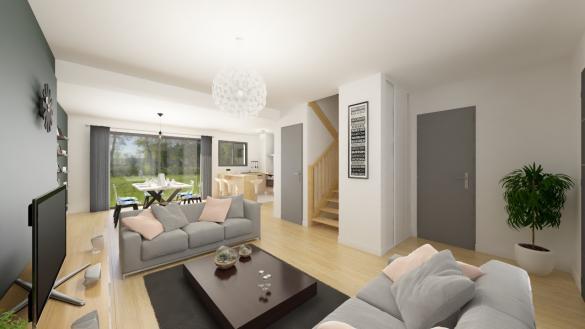 Maison+Terrain à vendre .(111 m²)(SAINT PAUL MONT PENIT) avec (Maison Familiale)