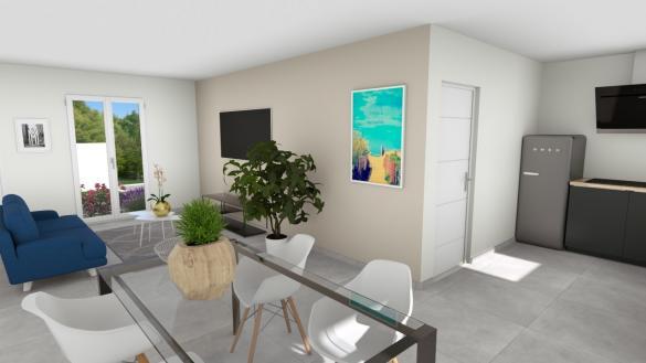 Maison+Terrain à vendre .(85 m²)(LE GUA) avec (LES MAISONS CHANTAL B)