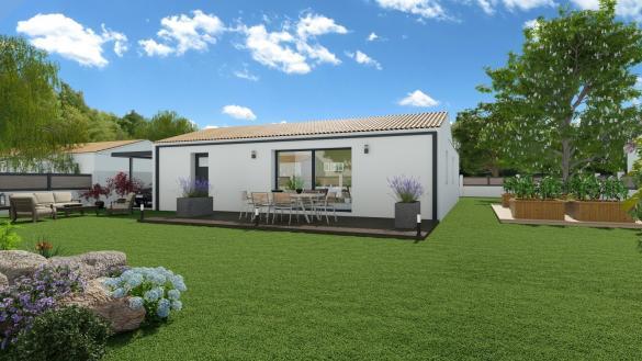 Maison+Terrain à vendre .(80 m²)(LE GUA) avec (LES MAISONS CHANTAL B)
