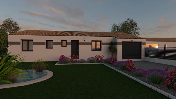 Maison+Terrain à vendre .(90 m²)(MESCHERS SUR GIRONDE) avec (LES MAISONS CHANTAL B)