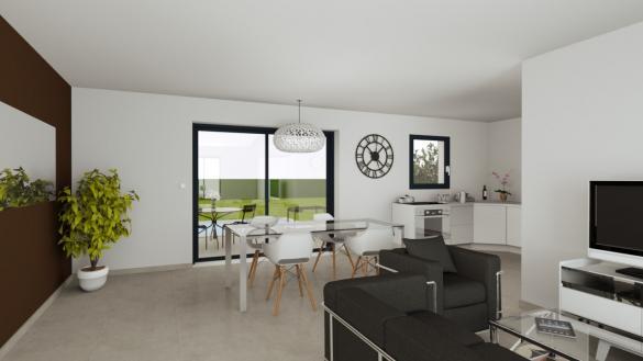 Maison+Terrain à vendre .(90 m²)(LE GUA) avec (LES MAISONS CHANTAL B)