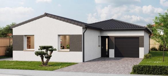 Maison+Terrain à vendre .(88 m²)(ETAULES) avec (LES MAISONS CHANTAL B)