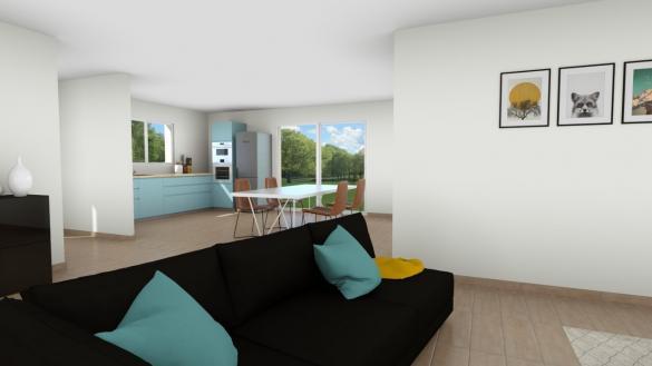 Maison+Terrain à vendre .(116 m²)(SEMUSSAC) avec (LES MAISONS CHANTAL B)