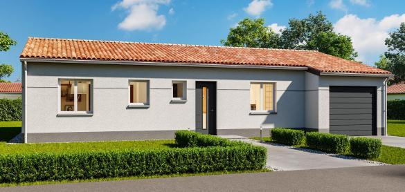 Maison+Terrain à vendre .(80 m²)(SAINTES) avec (LES MAISONS CHANTAL B)