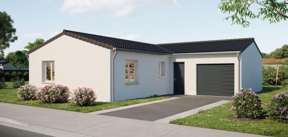 Maison+Terrain à vendre .(90 m²)(SAINTES) avec (LES MAISONS CHANTAL B)