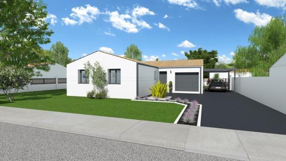 Maison+Terrain à vendre .(85 m²)(SAINTES) avec (LES MAISONS CHANTAL B)