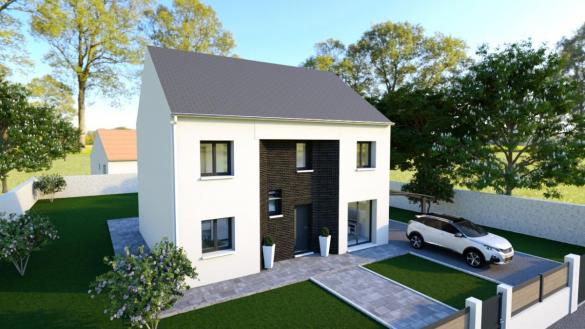 Maison à vendre .(130 m²)(ESTREES SAINT DENIS) avec (MAISONS VESTALE 95)