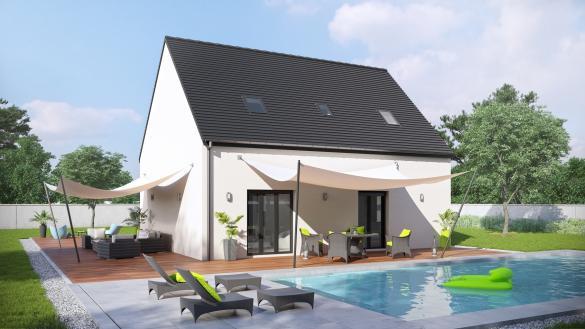 Maison+Terrain à vendre .(97 m²)(FALVY) avec (VILLAS-CLUB)