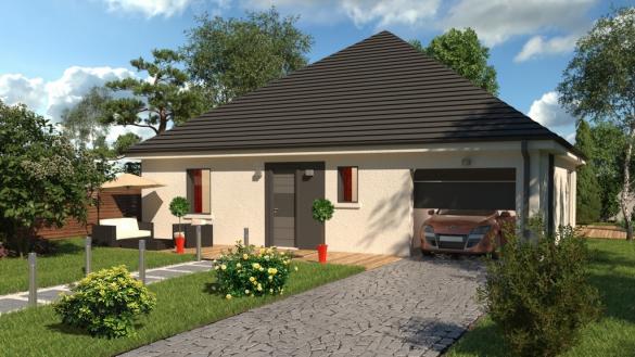 Maison+Terrain à vendre .(92 m²)(AUFFAY) avec (-)