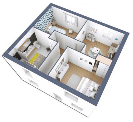 Maison+Terrain à vendre .(100 m²)(LES GRANDES VENTES) avec (-)