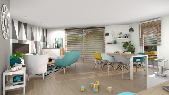 Maison+Terrain à vendre .(107 m²)(QUINCAMPOIX) avec (-)