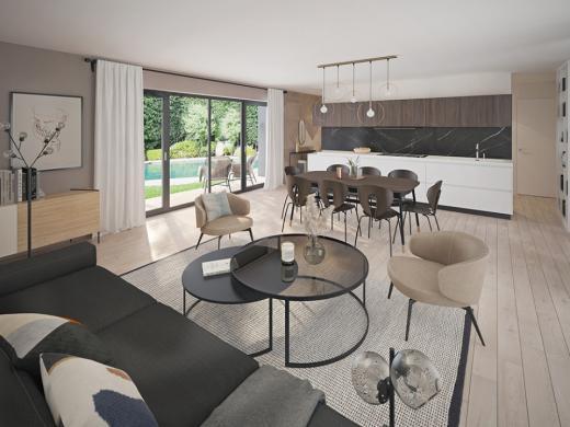 Maison+Terrain à vendre .(115 m²)(LES PIEUX) avec (MAISONS FRANCE CONFORT)