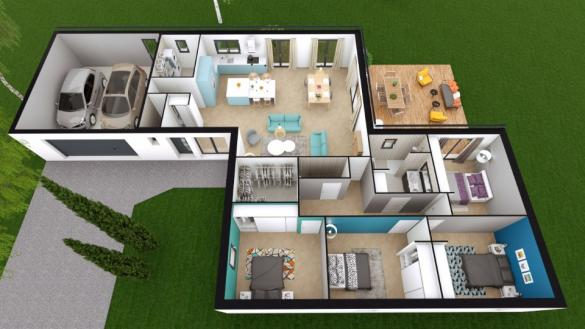 Maison+Terrain à vendre .(140 m²)(QUINCAY) avec (BERMAX CONSTRUCTION)