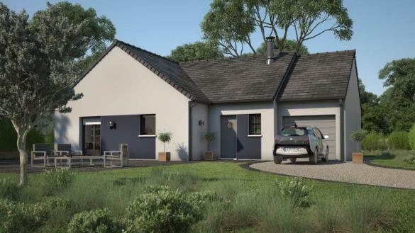 Maison+Terrain à vendre .(90 m²)(ARQUENAY) avec (MAISONS FRANCE CONFORT)